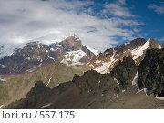 Купить «Панорама Кавказа, вид на стену Эльбруса», фото № 557175, снято 5 августа 2008 г. (c) Vladimir Fedoroff / Фотобанк Лори