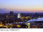 Ночной Екатеринбург (2008 год). Стоковое фото, фотограф Филипп Яндашевский / Фотобанк Лори