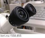 Купить «Окуляры микроскопа», фото № 558855, снято 5 ноября 2008 г. (c) Aleksej Penkov / Фотобанк Лори
