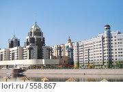 Новые кварталы Астаны (2008 год). Стоковое фото, фотограф Григорий Дашкин / Фотобанк Лори