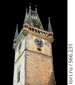 Купить «Прага, ратушная башня», фото № 566231, снято 27 сентября 2007 г. (c) Кузьминов Юрий Юрьевич / Фотобанк Лори