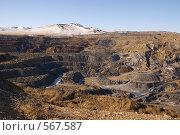 Купить «Краснокаменск. Уртуйский угольный разрез», фото № 567587, снято 8 ноября 2008 г. (c) Julia Nelson / Фотобанк Лори