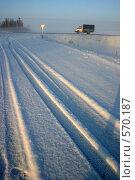 Зимняя дорога. Стоковое фото, фотограф Gagara / Фотобанк Лори