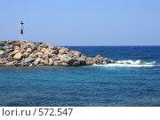 Купить «Греция, остров Крит, Сиси, маяк», эксклюзивное фото № 572547, снято 4 августа 2008 г. (c) Яна Королёва / Фотобанк Лори