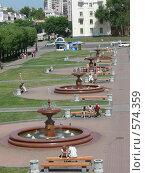 Фонтаны в Хабаровске. Редакционное фото, фотограф Андрей Гринько / Фотобанк Лори