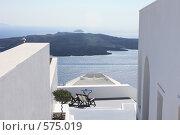 Купить «Санторини, вид на действующий вулкан», эксклюзивное фото № 575019, снято 11 августа 2008 г. (c) Яна Королёва / Фотобанк Лори