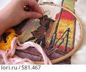 Незаконченное вышивание. Стоковое фото, фотограф Ирина Китаева / Фотобанк Лори