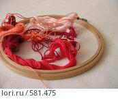 Подготовка к вышиванию. Стоковое фото, фотограф Ирина Китаева / Фотобанк Лори