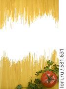 Купить «Рамка из макарон», фото № 581631, снято 20 ноября 2008 г. (c) Лисовская Наталья / Фотобанк Лори