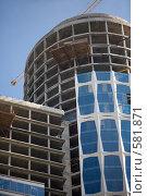 Строительство небоскрёба (2008 год). Редакционное фото, фотограф Кирилл Чернов / Фотобанк Лори