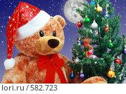 Рождественский медведь, фото № 582723, снято 8 марта 2017 г. (c) Александр Федяшов / Фотобанк Лори