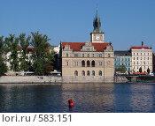 Прага за рекой (2006 год). Стоковое фото, фотограф Татьяна Баранова / Фотобанк Лори