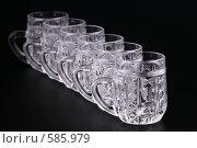 Купить «Хрустальные кружки», фото № 585979, снято 25 ноября 2008 г. (c) Игорь Веснинов / Фотобанк Лори