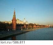Вид на Кремль со стороны набережной (2008 год). Редакционное фото, фотограф Elena Monakhova / Фотобанк Лори