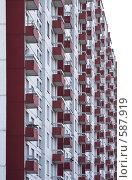 Купить «Балконы жилого дома», фото № 587919, снято 31 октября 2008 г. (c) Юрий Синицын / Фотобанк Лори