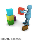 Купить «Построй свой бизнес - концепция», иллюстрация № 588975 (c) Владислав Пугачев / Фотобанк Лори