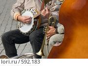 Купить «Уличный джаз», фото № 592183, снято 29 сентября 2008 г. (c) Бутенко Андрей / Фотобанк Лори