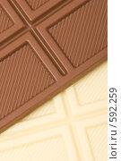 Купить «Черный и белый шоколад», фото № 592259, снято 2 ноября 2008 г. (c) Бутенко Андрей / Фотобанк Лори