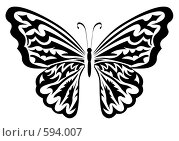 Купить «Бабочка», иллюстрация № 594007 (c) Сергей Лаврентьев / Фотобанк Лори