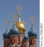 Купола храма. Стоковое фото, фотограф Михаил Треусов / Фотобанк Лори