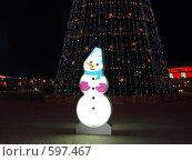 Купить «Снеговик», фото № 597467, снято 4 января 2008 г. (c) Сергей Зубов / Фотобанк Лори