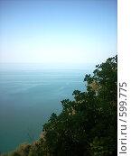 Купить «Пейзаж: Чёрное море в Абхазии», фото № 599775, снято 6 июля 2020 г. (c) Галина Гуреева / Фотобанк Лори