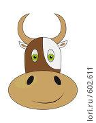 Симпатичная корова. Стоковая иллюстрация, иллюстратор Александр Асланов / Фотобанк Лори