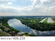 Купить «Москва с высоты», фото № 606239, снято 20 июня 2008 г. (c) Дмитрий Тарасов / Фотобанк Лори