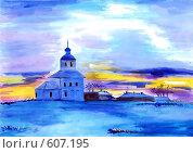 Купить «Зима», иллюстрация № 607195 (c) Ольга Долотина / Фотобанк Лори