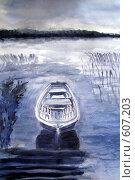 Купить «Лодка», иллюстрация № 607203 (c) Ольга Долотина / Фотобанк Лори