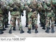Купить «Построение солдат на параде», фото № 608047, снято 18 ноября 2006 г. (c) Vladimirs Koskins / Фотобанк Лори