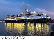 Купить «Большой круизный корабль (лайнер) у Графской пристани в Севастополе», эксклюзивное фото № 612175, снято 16 октября 2008 г. (c) Алексей Бок / Фотобанк Лори
