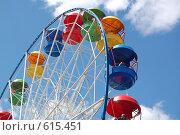 Купить «Колесо обозрения в небе», фото № 615451, снято 12 июня 2007 г. (c) A Большаков / Фотобанк Лори