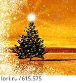 Купить «Новогодняя картинка с елочкой», иллюстрация № 615575 (c) ElenArt / Фотобанк Лори