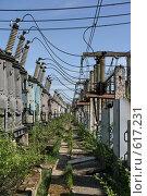 Купить «Трансформаторная подстанция Северной ТЭЦ-21. Санкт-Петербург», фото № 617231, снято 21 мая 2007 г. (c) Александр Секретарев / Фотобанк Лори