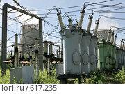 Купить «Трансформаторная подстанция Северной ТЭЦ-21. Санкт-Петербург», фото № 617235, снято 21 мая 2007 г. (c) Александр Секретарев / Фотобанк Лори