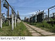 Купить «Трансформаторная подстанция Северной ТЭЦ-21. Санкт-Петербург», фото № 617243, снято 21 мая 2007 г. (c) Александр Секретарев / Фотобанк Лори