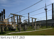 Купить «Трансформаторная подстанция Северной ТЭЦ-21. Санкт-Петербург», фото № 617263, снято 21 мая 2007 г. (c) Александр Секретарев / Фотобанк Лори
