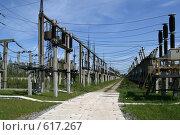 Купить «Трансформаторная подстанция Северной ТЭЦ-21. Санкт-Петербург», фото № 617267, снято 21 мая 2007 г. (c) Александр Секретарев / Фотобанк Лори