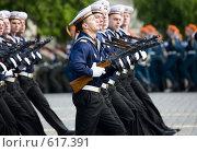 Купить «На военном параде Победы 9 мая 2008 года в Москве на Красной площади. Прохождение войск Российской армии.», эксклюзивное фото № 617391, снято 9 мая 2008 г. (c) Алексей Бок / Фотобанк Лори