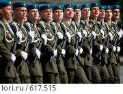 Купить «На военном параде Победы 9 мая 2008 года в Москве на Красной площади. Прохождение войск Российской армии.», эксклюзивное фото № 617515, снято 9 мая 2008 г. (c) Алексей Бок / Фотобанк Лори
