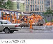 Купить «Рабочие-строители», эксклюзивное фото № 620759, снято 16 июня 2008 г. (c) lana1501 / Фотобанк Лори