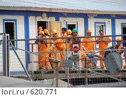 Купить «Рабочие-строители», эксклюзивное фото № 620771, снято 16 июня 2008 г. (c) lana1501 / Фотобанк Лори