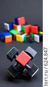 Купить «Разобранный кубик Рубика», фото № 624847, снято 19 декабря 2008 г. (c) Алексей Лебедев / Фотобанк Лори