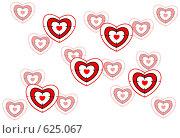 Купить «Фон из сердечек - мишеней», иллюстрация № 625067 (c) Юрий Жеребцов / Фотобанк Лори