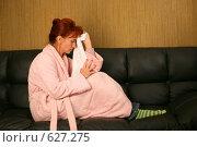 Купить «Женщина, страдающая головной болью», фото № 627275, снято 16 сентября 2008 г. (c) Vdovina Elena / Фотобанк Лори