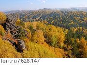Осень в горах Алтая. Стоковое фото, фотограф Юрий Бульший / Фотобанк Лори