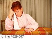 Купить «Женщина, страдающая головной болью», фото № 629067, снято 16 сентября 2008 г. (c) Vdovina Elena / Фотобанк Лори