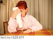 Купить «Женщина, страдающая головной болью», фото № 629071, снято 16 сентября 2008 г. (c) Vdovina Elena / Фотобанк Лори