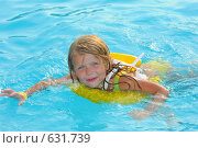 Купить «Плывущая девочка», фото № 631739, снято 25 августа 2008 г. (c) Юлия Шилова / Фотобанк Лори